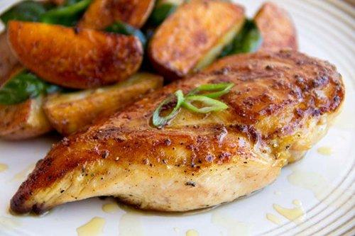 Pollo al limón al ajo