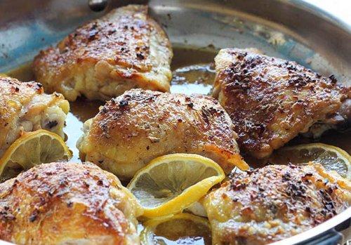 Pollo al limón con miel