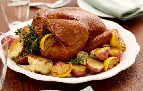 Pollo al limón con patatas